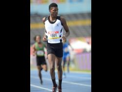 Jeremy Bembridge of Tarrant High wins heat three of the Class Two  400m on day two of the ISSA/GraceKennedy Boys and Girls' Championships  at the National Stadium yesterday.
