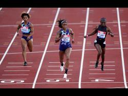 Jamaica's Elaine Thompson Herah wins the women's 200 metres in 22.43 seconds during the Diamond League event at Gateshead, England yesterday.