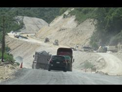A section of the Southern Coastal Highway under construction near Grants Pen, St Thomas.
