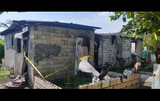 Photo of house in Buff Bay where Maureen Johnson was stabbed to death. The home was then destroyed by fire.