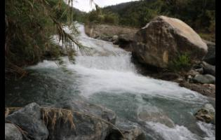 This photo shows the Yallahs River in St Thomas, when the flow was brisk. These days, it has been reduced to a trickle.