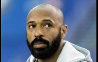 Montreal Impact head coach Thierry Henry looks on during an MLS game against the New England Revolution in Montreal, on February 29, 2020.